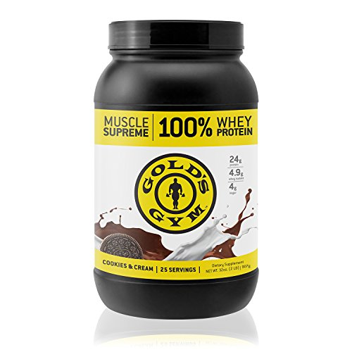 Gold's Gym 100% Whey Protein Powder – Cookies and Cream ...