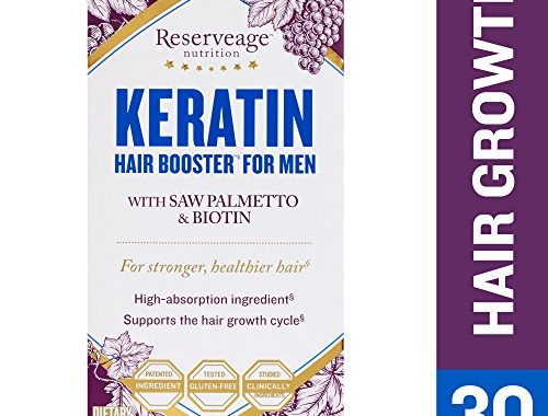 Reserveage Keratin Hair Booster For Men Helps Block Dht To Reduce Baldness By Supporting Growth With Saw Palmetto Biotin And Beta Sitosterol